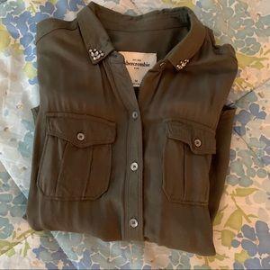 Abercrombie kids button up blouse